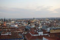 A view from one of the terraces of the Vincci Capitol Hotel in Madrid