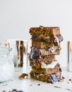 Banana Bread Brie and Chocolate grilled cheese / How Sweets Eats
