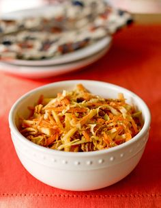Apple, Carrot and Pecan Slaw with a Curry Dressing | MJ's Kitchen