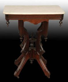 Antique Marble Top Victorian Table c. 1800's