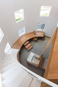 A staircase lands on