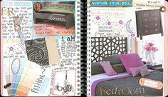 art journaling idea for scrapbook journal