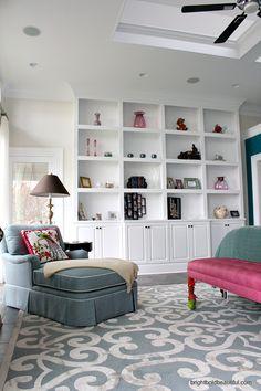 Bedroom Built-In Bookshelves