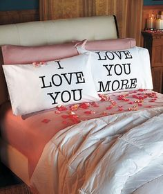 'Love You More Pillowcase Set' is going up for auction at  7pm Tue, Sep 10 with a starting bid of $10.