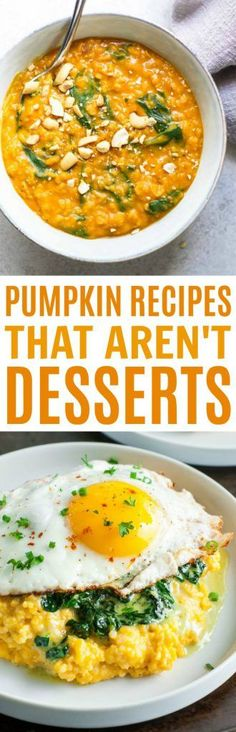 We love savory pumpkin dishes! So today, we're rounded up these  Pumpkin Recipes that Aren't Dessert. Once you check these out, you might just  find that you look at pumpkin in a whole new way.  #fall #autumn #DIY #fallrecipe  #pumpkin #pumpkinrecipe #sidedishes #cooking #recipes  #easyrecipes #funrecipes #deliciousrecipes #recipeideas #easyrecipeideas  #yummyrecipes #cooking #fallrecipes #autumnrecipes