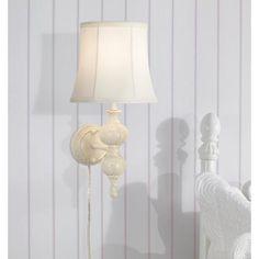 Wakefield Daisies Ivory Plug-In Wall Lamp