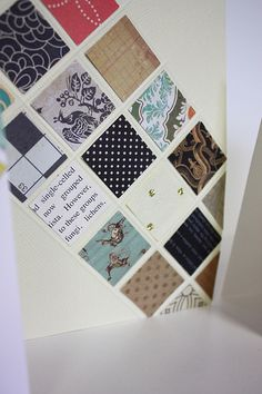 Paper scraps + square punch + scoring board. Tips from @Susan Opel