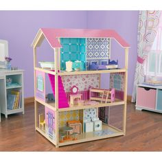 KidKraft Deluxe Play Around Dollhouse | www.dollhousesgalore.com