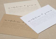 Modern Calligraphy Wedding Invitations via Etsy