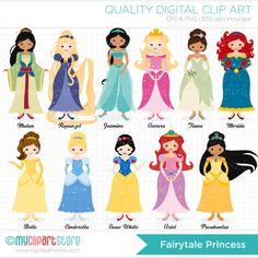 Fairytale Princess Clip Art / Digital Clipart  by MyClipArtStore, $8.00