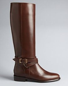 Burberry Leather Riding Boots-Adelaide