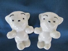 Vintage Puppy Salt And Pepper Shakers by BitofHope on Etsy