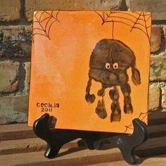 Handprint spider..love this