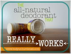 the all natural deodorant that really works