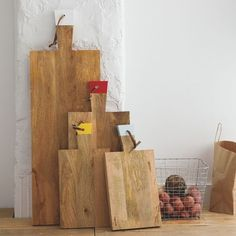 These beautifully grained raw wood boards from West Elm