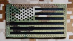 3.5x2 Inch Infrared Multicam Ir Us Flag Patch by TacticalTextile, $23.99