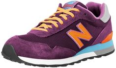 New Balance Women's WL515 Casual Athletic Running Shoe,Purple/Orange,12 B US