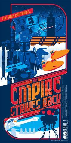 The Empire Strikes Back screenprint by Mark Daniels