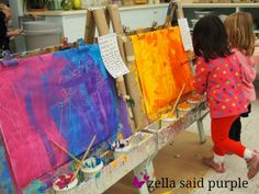 zella said purple: just playing? the easel as inspiration