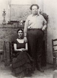 Frida Kahlo and Diego Rivera at Coyoacan, c. 1930  They were married twice and had a very complicated relationship.