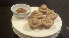 Ideal Protein Restricted Mini Muffins with no calorie apple butter. This is ONE serving. Ground IP cereal flakes in blender to flour consistency, add 1/4tsp cinam., 1 tsp vanilla, 1/2 cup liquid eggs, 1/4 tsp. baking powder. bake 350 for 12 to 15 mins. Makes 5 yummy mini muffins. serve with walden farms apple butter.