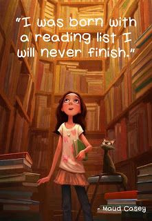 For the rest of my life, I will never out-read my list.