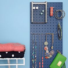 This workshop workhorse, with a coat of your favorite paint, becomes a super-simple way to stash jewelry and accessories.