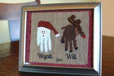 Santa and Reindeer handprints