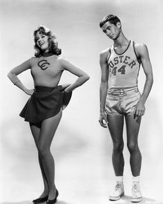 Jane Fonda, Anthony Perkins; publicity still from Joshua Logan's Tall Story (1960)