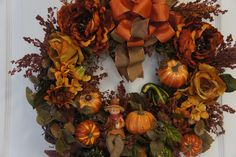 Fall Wreath for Front Door. $79.00, via Etsy.
