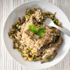 Artichoke and Pea Quinoa HealthyAperture.com