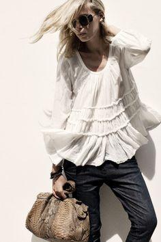 fashion, cloth, style, bohemian blouse, white shirts