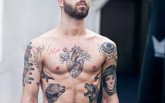 Tattooed chest
