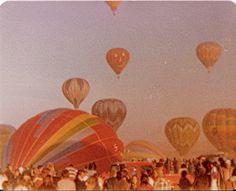 Albuquerque International Balloon Fiesta (taken by mom) from Sara Gossett (flickr) #hot_air_balloons #festival #old_photos #vintage