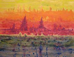 Siem Reap - 20x24 acrylic on canvas
