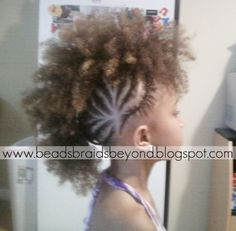 BEADS BRAIDS BEYOND / MOHAWK / . LITTLE GIRL HAIRSTYLES / BRAIDS / PROTECTIVE HAIRSTYLE / HAIRSTYLES / KIDS / BOW  / CORNROLLS / HAIRDO / UPDO / GIRL /  HAIRSTYLE / NATURAL HAIRSTYLE / BEADS