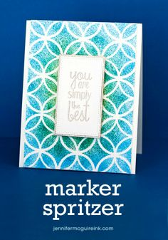 Video and giveaway of Tim Holtz Marker Spritzer