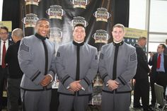 (L to R) Army captains Jarrett Mackey, Michael Kime and Thomas Holloway represented the Black Knights during the 2013 #ArmyNavy Media Luncheon in Philadelphia.