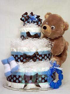 diaper creation, craft, boy diaper, daiper cake boy, diaper cake for boy