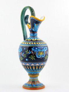Deruta italian ceramic decoration - Amphora vase