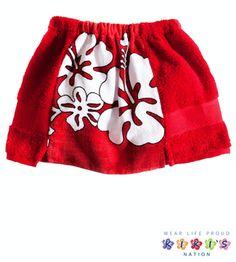 Kiki's Nation Towel Skirt. SO cute for the beach or swim lessons this summer! towel skirt, beach, swim lesson