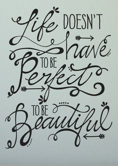 Black 'Life Doesn't Have To Be Perfect' Decal