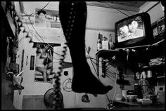 Chien-Chi Chang :: USA. New York City. 1998. An immigrant watches a Chinese soap opera on his day off.