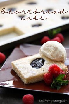 food recip, super simpl, chefintrainingcom, cakes, fluffier version, shortbread cake, shortbread cooki, dessert, soft