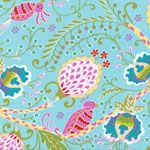 Dena Designs Little Azalea Bird Of Paradise Aqua [FS-DF172-Aqua] - $8.95 : Pink Chalk Fabrics is your online source for modern quilting cottons and sewing patterns., Cloth, Pattern + Tool for Modern Sewists