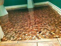 The LoveDen: Penny Floor!!