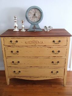 D.D.'s Cottage and Design: Mustard Seed Yellow Dresser