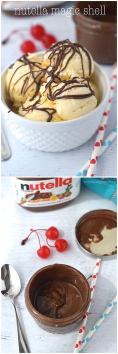 Nutella Magic Shell - Wine & Glue