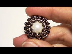 How to bezel a pearl using Seed beads and Delica beads | Beading Tutorial - YouTube
