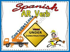 Spanish AR Verb Conjugations Notes and Practice Powerpoint from Spanish the easy way! on TeachersNotebook.com (21 pages)  -  Spanish AR verb conjugations and practice all in one powerpoint!  This fun, interactive powerpoint includes sound and motion to really grab your students' attention!